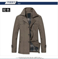 Men's Winter Jacket Turn-down Collar Slim Style Casual Jacket 2 Colors M-XXXL Lining Warm Outwear Free Shipping WholeSale MWJ193