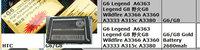 2680MAH  gold battery for HTC  G6 Legend A6363 Legend G8 G8 Wildfire A3366 A3360 A3333 A315c A3380