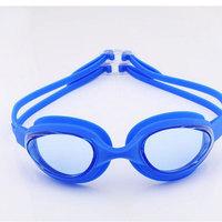 Free shipping  Top Fasion Rushed Men White Acetate Blue Plastic  2014 Honey Swimming Glasses Waterproof Anti-fog Anti-uv