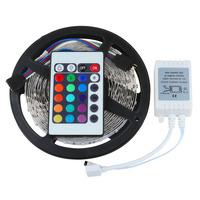 5M RGB 3528 LED Color Change Strip Light 60leds/m led strip lighting Non-waterproof+ Remote Control 24keys + IR receiver