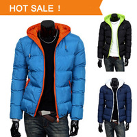 Men's Winter Hoodies Quilted Jacket Warm Fashion Male Puffer Overcoat Parka Outwear Winter Cotton Padded Hooded Down Coat XXXL