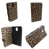 1 pc Leopard Leather case Holder Wallet Stand  Case Cover for Samsung Galaxy Note 3 Note3 III N9000