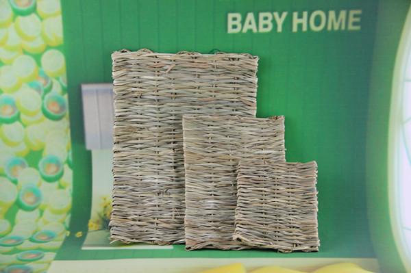 Free Shipping Lot 2 pcs Natural Rabbit Woven Reed Hay Mat Pet Bedding Supplies 150g(China (Mainland))