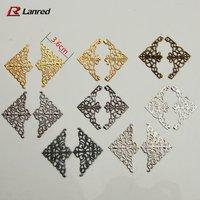T7 Free Shipping Mixed Colors  Shapes 36mm Filigree Metal Decorative Corner Embellishments Wedding Craft Scrapbooking decoration
