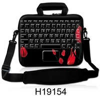 Keybord series pattern Laptop Notebook shoulder bag with  handbag Neoprene two zipper 12' 14' 15.6' 17' 17.3' inches for hp