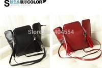 Best quality 2014 Summer New Fashion Women Rivet Handbag Lady Tassel Hand Bag Shouler Bag