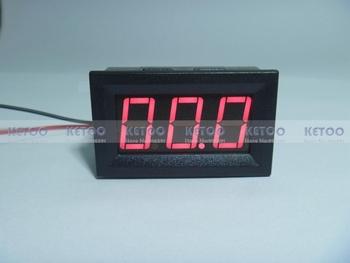 Бесплатная доставка 1 шт. красный из светодиодов дисплей DC текущий панель амперметр ...