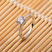 Genuine14 Karat White Gold Women Moissanite Wedding Rings Round Cut 1.0 CT VVS,H Fine Jewelry Factory Price