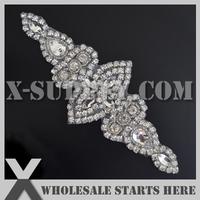 Free Shipping Crystal Rhinestone Appliques for Wedding Bridal Sash,Headband and Shoe/Wholesale Bulk