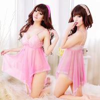 Hot Sexy Lingerie lucency chiffon Tights Nightwear Women Lingerie Sexy Lingerie Large Size