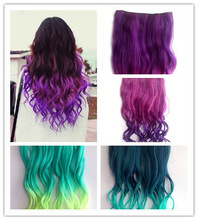 "2014 9 Colours 26"" 3/4 Full Head Clip in Synthetic Hair Extensions Human Made Hair(China (Mainland))"