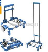 hand cart&Trolley portable folding luggage cart shopping cart car trailer- free shipping