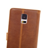 Leather case Holder Wallet Stand Case Cover for Samsung Galaxy S5 SV i9600 Crazy Horse Pattern