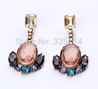 2014 Fashion Statement Cystal Earring Embellishment Earring Mixed Styles 10 Styles 15pcs/lot FREE SHIPPING