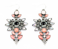 2014 Fashion Statement Cystal Earring Floral Shape Earring 2Colors Mixed Styles 10 Styles 15pcs/lot FREE SHIPPING