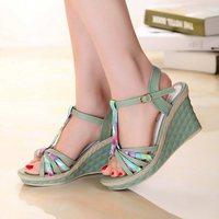 2014 New Women Summer Shoes Sandals For Women High-heeled Shoes Roman Sandals Waterproof  Women Sandal