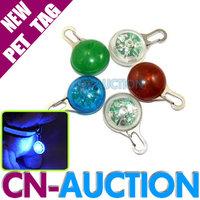 FREE SHIPPING! High Quality LED Cat Dog Tag Pet Lead Collar Pendant Flashing Safety Night Light Keys 10PCS/LOT (CN-PT02)