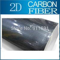 "Car Glossy 2D Carbon Fiber Vinyl Foil 24""x50"" 1.9FTx4.16FT Carbon Fiber Wrapping Film Calendared PVC For Car"
