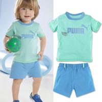2014 Children's clothing summer Sports suit Short Sleeve 2 pcs baby boys clothes set(t shirt+ short pants) 5 set/lot