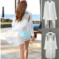 Summer 2014 Brand New Women's Chiffon Lace Crochet Bikini Swimwear Beach Cover Up Women,Sexy White Bathing Suit Cover-Ups