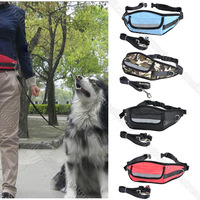 New Nylon Pet Cat Doggie Puppy Leashes Lead Harness Belt Rope with  Waist Bag dog Leashes Hot Sell