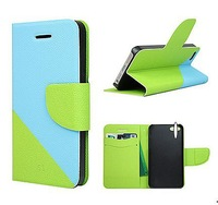 Dual Color 2 Strip Wallet Magnetic Cover Pouch Stone Sand Grain Card Slot Purse Bag Case for Galaxy Pocket Neo S5310 5310 Free