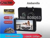 Free shipping Ambarella GS6300 Car Dvr Full HD 1080p 3.0 inch LCD Car Recorder H.264 with G-Sensor,GPS Car Camera Eecorder
