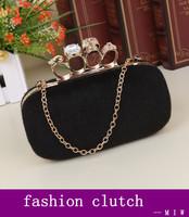 Freeship New 2014 female vintage fluff ring evening bag clutch banquet bag / women Chain Shoulder Messenger Bag cross-body bag