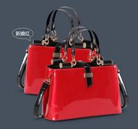 2014 New Arrival women brand designer patent leather shoulder Bag casual Handbag Fashion messenger Bag small OL bag SD50-365
