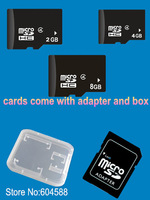 100pcs/lot memory cards micro sd 2gb 4gb 8gb real cheap price by case package