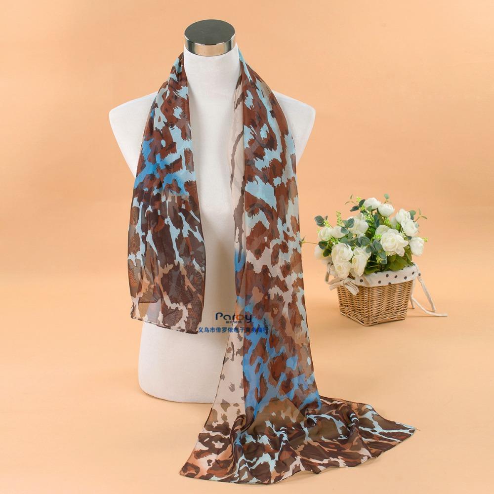 New 2014 fashion women summer spring Accessories scarf pashmina leopard shawl cape silk chiffon tippet muffler YN-069(China (Mainland))