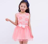 free shipping new arrival children's sleeveless dress girl's casual mini dress
