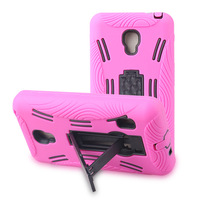 1pcs Hybrid 3  in 1 Kickstand Silicon Hrad Plastic PC Stand Cellphone Case For LG Optimus F6 D500 Protective Cases Free Shipping