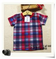 Children's clothing . baby short-sleeve T-shirt . Classics plaid . cotton . 2T - 24M sweet baby. ID:15304