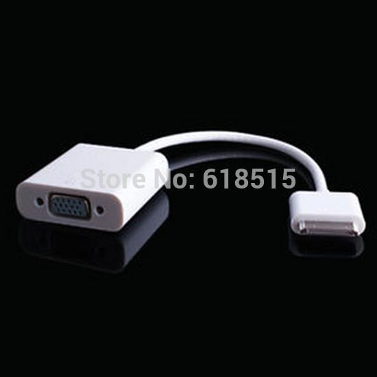 Freeshipping 30pin Dock Connector to VGA Adapter Converter for Apple iPad1/2/3 VGA Adapter(China (Mainland))