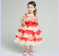 Free shipping 2014 Children's wear wedding dress girls party dress girl princess dress flower girl dresses