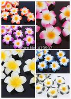 100pc/lot foam frangipani DIY Artificial flowers wedding  Hawaiian Plumeria flower 6cm Plumeria flower Wedding Decoration