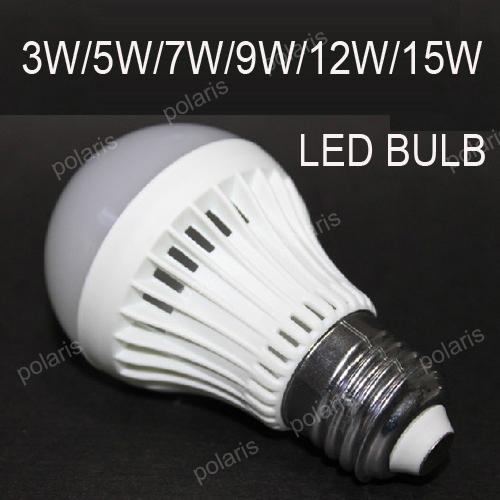 10pcs/lot Led Lamp E27 LED Bulb High brightness 3W 5W 7W 9W 220V 240V Warm White Cool White Energy Saving LedLight B22(China (Mainland))