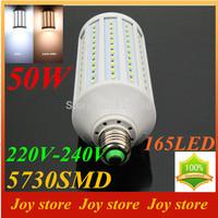 50W,5730 SMD,LED Lamps Bulb,E27 B22 E14,220V,230V,240V,Cold White/Warm white,165 LED,Corn Light Bulb,Ultra bright spot lights