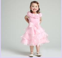 Free shipping 2014 Children's party dress wedding dress girl little girls pageant dresses