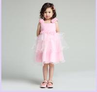Free shipping 2014 Children's  flower girl dress designer flower girl gowns girls princess dress