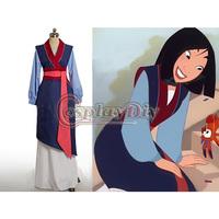 Free Shipping Custom-made Hua Mulan Dress Blue Dress Princess Dress Movie Cosplay Costume