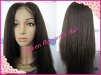 Hot selling Italian yaki Straight natural hairline glueless full lace wig & front lace wig brazilian human hair for black women