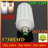 50W,5730 SMD,LED Lamps Bulb,E27 B22 E14,110V,120V,Cold White/Warm white,165 LED,Corn Light Bulb,Ultra bright spot lights