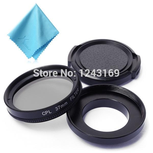 37mm CPL Filter Circular Polarizer Lens + Cap For Gopro Hero 3 3+ LF324(China (Mainland))
