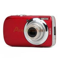 "3.0"" LCD TFT Max 16MP Interpolation 5X Optical Zoom Digital Camera - Red#2100256"