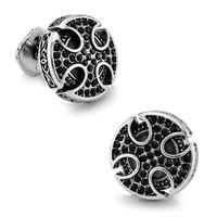 SPARTA Platinum Plated Black Knight Cross Cufflinks Cuff Links gift buttons
