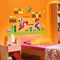 5 Set/lot DIY Popular Super Mario Wall Stickers Cartoon Puffy Sticker Kid Room Sticker & Classroom Sticker
