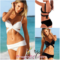 2014 Summer Push up Bikini Sexy Women Padded Top Bikini set Sexy Push-Up Swimsuit Top and Bottoms Steel Ring Swimwear