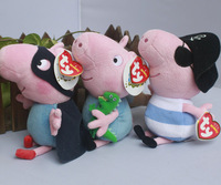 "IN HAND !3pcs by Ty Original Peppa pigs George Pirate HERO 15cm 6"" Plush Toy Movie TV Stuffed Animals Dolls Kids FREE SHIP"